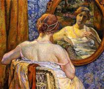 Woman at a mirror (Theo van Rysselberghe, 1907)