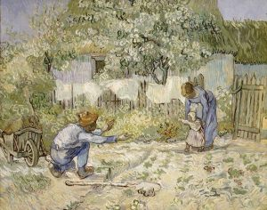First Steps, after Millet (Vincent van Gogh, 1890) - www.metmuseum.org/toah/works-of-art/64.165.2