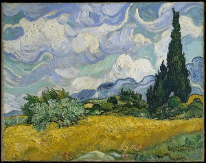 Wheat Field with Cypresses (Vincent van Gogh, 1889) - www.metmuseum.org