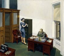 Office at Night (Edward Hopper, 1940)