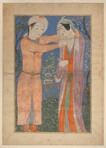 Princely Couple (Artista desconhecido, obra datada de 1400–1405 e localizada no Irã) - http://metmuseum.org/