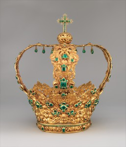 Crown of the Virgin of the Immaculate Conception, conhecida como Crown of the Andes (Unknown Artist, ca. 1660–1770 Colombian) - Acervo The Metropolitan Museum of Art, New York -  http://www.metmuseum.org/Collections/search-the-collections/21698
