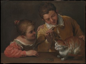 Two Children Teasing a Cat (Annibale Carracci, 1560-1609) - http://metmuseum.org