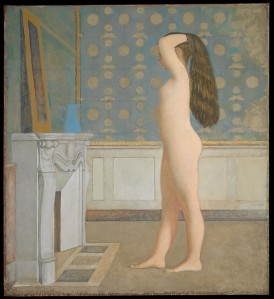 Nude Before a Mirror (Balthus, 1955)