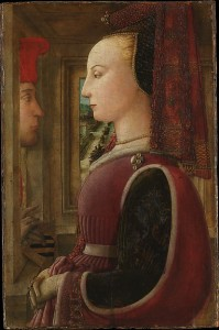 Portrait of a Woman with a Man at a Casement (Fra Filippo Lippi, 1440) - www.metmuseum.org