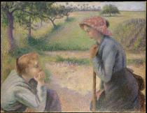 Two Young Peasant Women (Camille Pissarro, 1891–92) - metmuseum.org