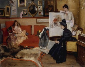 In the Studio (Alfred Stevens, 1888)