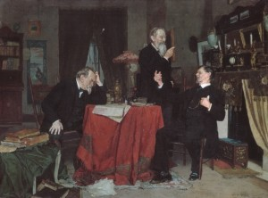 A Discussion (Louis Moeller, ca. 1890–95) - www.metmuseum.org